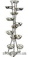 Кованная подставка для цветов на14 вазонов (башня+спираль)