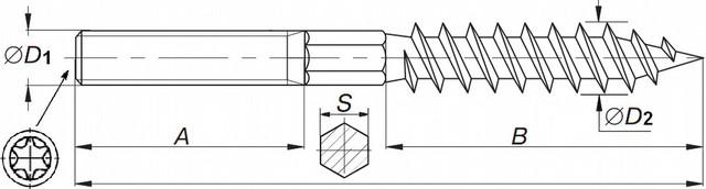 шпилька двухрезьбовая | винт-шуруп