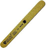 Пилки для ногтей SALON PROFESSIONAL (180/240) тефлон, узкие, прямые, золото