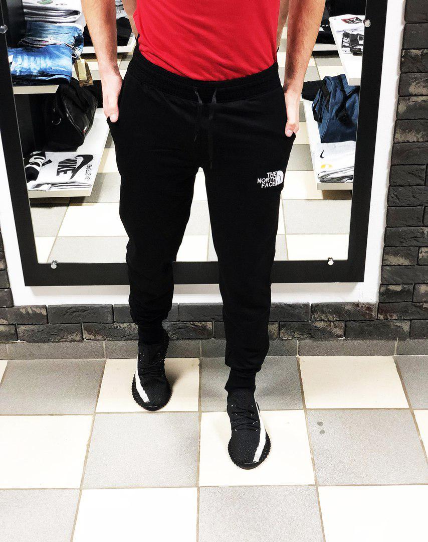 1da342ea Мужские спортивные штаны Норт Фейс The North Face на манжетах (реплика)  чёрные