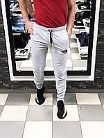 Мужские спортивные штаны Норт Фейс The North Face на манжетах (реплика) серые