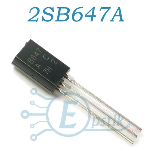 2SB647A, транзистор біполярний PNP, 1А 100В, TO-92MOD
