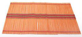 Бамбуковий килимок (серветка) Bamboo Mat-115, 30х45см, кольоровий