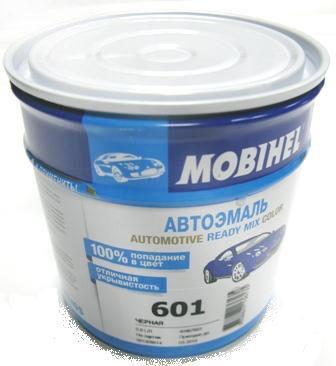 Автокраска 601 Черная Helios Mobihel алкидная 0,6л