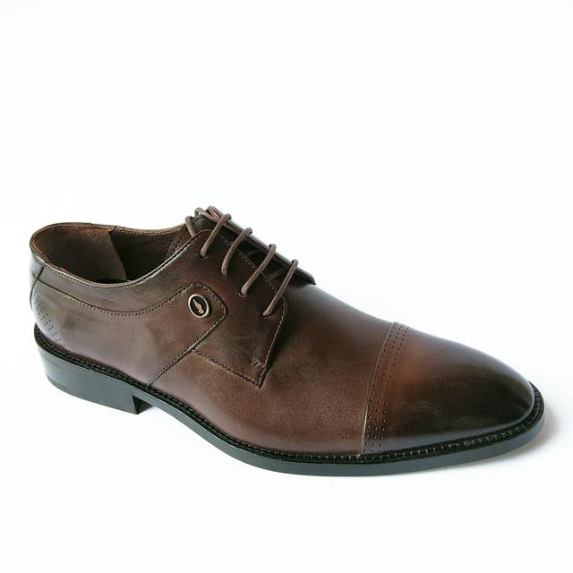 Брендовая турецкая мужская обувь классические дорогие кожаные туфли, шоколадного цвета, тонированные, на шнуровке