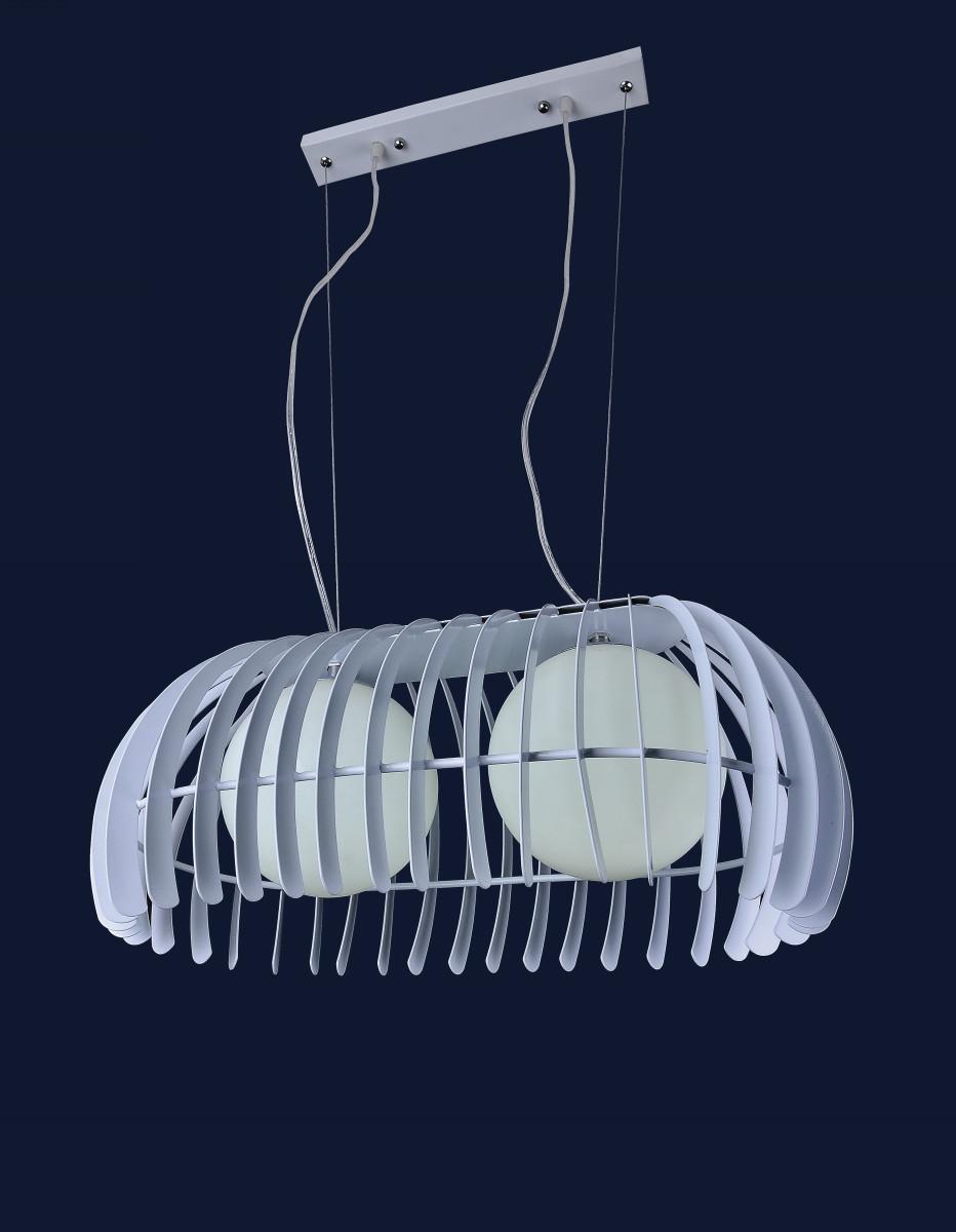 Подвесной светильник на две лампы 7076104-2 БЕЛЫЙ