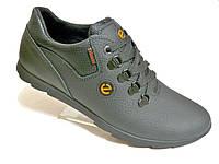 Кожаные мужские кроссовки Ecco чер., фото 1