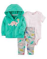 Ветровка + Штаны + Боди Carters на новорожденную девочку до 55 см. Костюм 3-ка для девочки