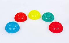 Полусфера массажная балансировочная Balance Kit  (резина, d-15см, h-7,5см, 280g, цвета в ассортименте)