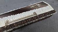Гроб - драпировка атлас (коричневый) сайт:  Orfey1.com