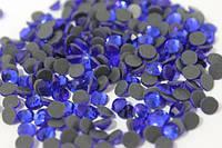 Стразы стеклянные на термооснове (3мм/100шт):Синий №04