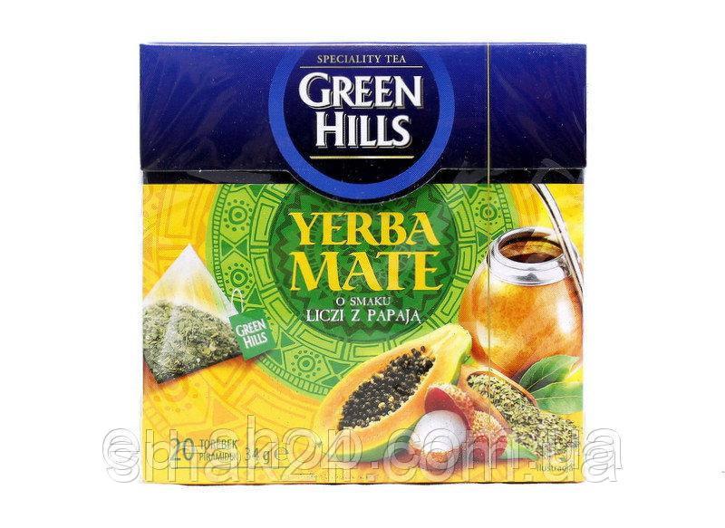 Чай  Green Hills со вкусом личи и папайи  20 пирамидок  Польша