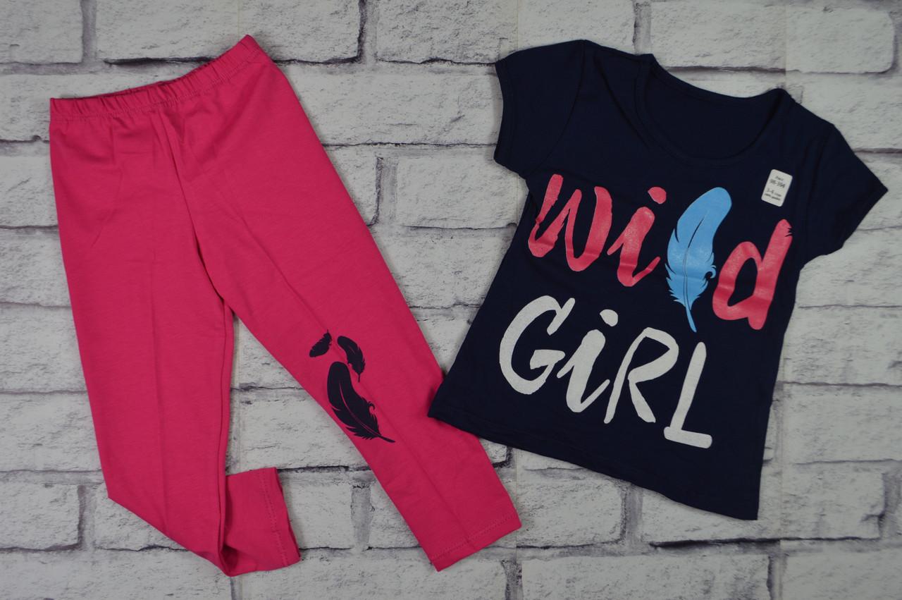Летний костюм для девочки Wild