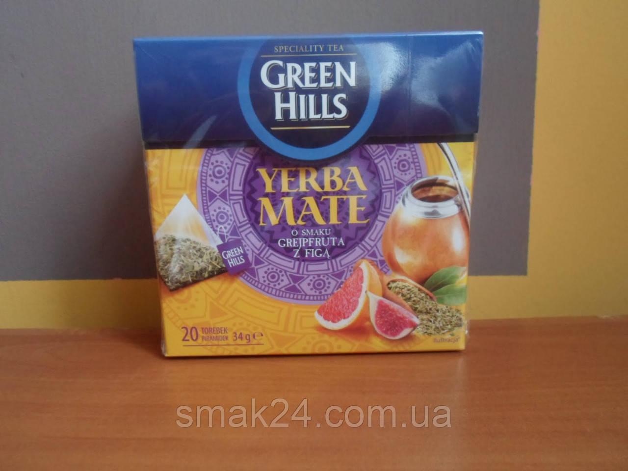 Чай  Green Hills со вкусом грейпфрута и фиги  20 пирамидок  Польша