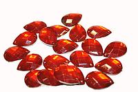 Камни пришивные (Капелька 25х17мм) 20 шт.:Красный