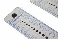 Измеритель размера спиц пластмассовый (линейка 14см)