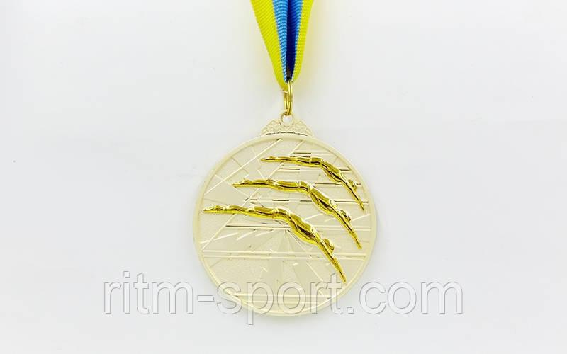 Медаль спортивна з плавання d - 6,5 см