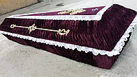 Гроб - драпировка велюр (бордо)