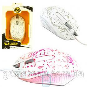 Мышь игровая Zornwee XG68 Walker с подсветкой белая