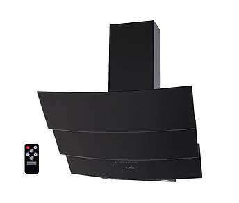 Вытяжка наклонная черная Ventolux RIALTO 60 BK (750) TRC пульт, фото 2