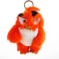 Брелок детский Птица нат. мех  красная  Энгри Бердс ( Angry Birds )  h-15 см