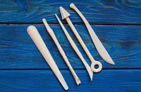 Инструменты для работы с полимерной глиной, двусторонние, 5шт.