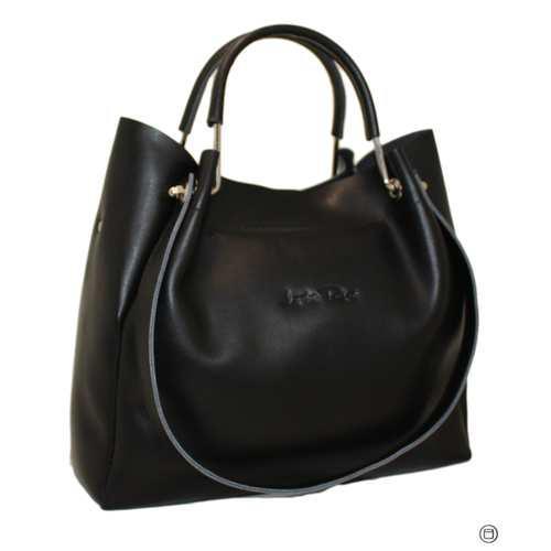 007478763d2b Красивая и комфортная сумка из натуральной черной кожи - Интернет-магазин  стильной одежды и обуви