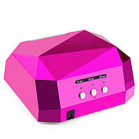 Лампа для маникюра Diamond CCFL+LED 36 W Pink