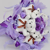 Мягкие игрушки в букете №73 Оригинальный подарок для девушки, ребёнка, подруге, маме
