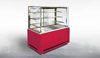 Кондитерская витрина Дакота Куб F mini 1300 1,3 ВХК(Д) +МДФ Технохолод (холодильная)