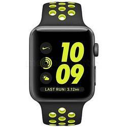Смарт-часы APPLE Nike+ ремешок 42 мм. star gray-black-bright green-yellow