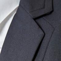 Модный мужской классический темно-синий пиджак