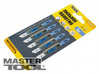 Пильное полотно для лобзика по металлу 5 шт, чистый прямой рез, 21TPI, L 77 мм T118A MasterTool 14-2811