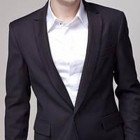 Мужской элегантный пиджак черный, синий