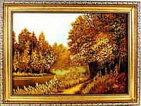 Картина изготовлена из янтаря