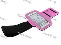 Армбенд, спортивный чехол Iphone 5 5C 5S, розовый