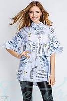 Расклешенная блуза полоска