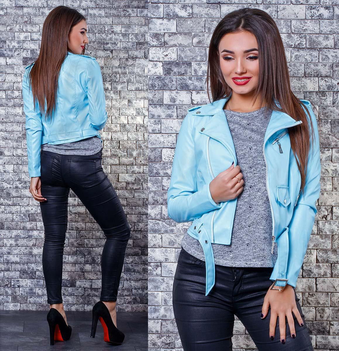 f3d8bda5ade Стильная женская кожаная куртка 346