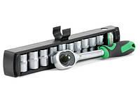 Набор инструментов, 10 предметов, 1/4 дюйма, 6 граней, 5-14 мм, Intertool ET-6008