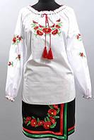 Вышитая рубашка женская белого цвета
