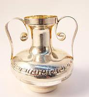 Коллекционная ваза,вазочка,амфора! Серебро,925*!