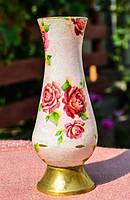 Очаровательная вазочка! Латунь! Прованс!