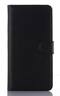 Кожаный чехол-книжка для Motorola moto G3 (5'') черный