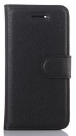 Кожаный чехол-книжка для Motorola moto G5 (5'') черный