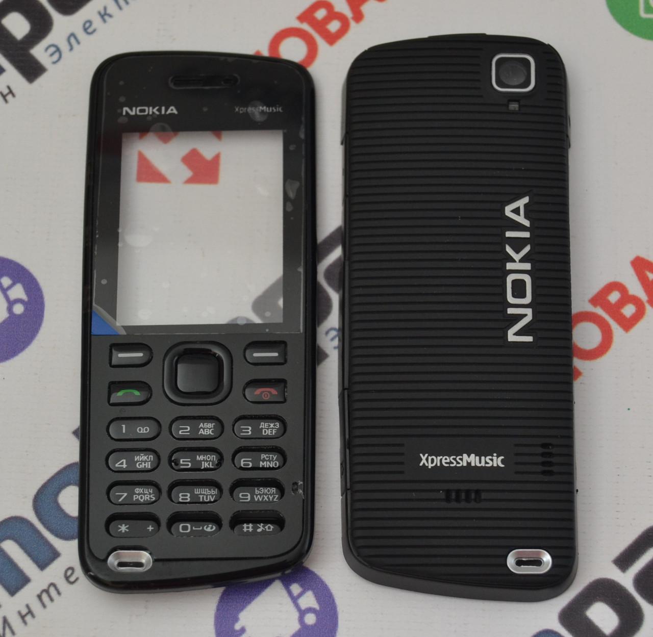 dc478273b5d9 Корпус для Телефона Nokia 5220 XpressMusic в Сборе (Качество ААА) (Черный)  Распродажа! — в Категории