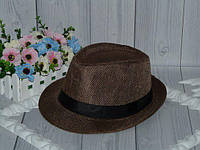 Шляпы для взрослых и подростков на ог 54-57см.(кофе)