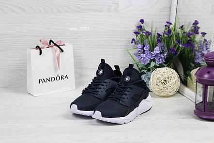 Женские кроссовки Nike Huarache,темно синие с белым, фото 2