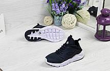 Женские кроссовки Nike Huarache,темно синие с белым, фото 3