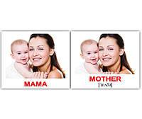 Картки Домана україно-англійські «Сім'я/Family» МІНІ 40, фото 1