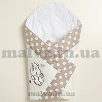 """Конверт-одеяло на выписку для новорожденных """"Вышивка /бегемотик"""", фото 1"""